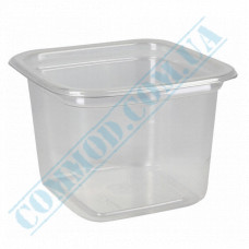 Plastic PET transparent containers 300ml 93*93*69mm for salad with a transparent lid 50 pieces