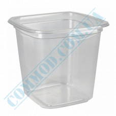 Plastic PET transparent containers 400ml 93*93*92mm for salad with a transparent lid 50 pieces