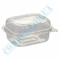 Plastic containers   560ml   100*130*58mm   transparent   with lid   for cold dishes   100 pieces per pack
