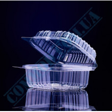 Plastic PET transparent containers 500ml 100*130*58mm for salad with a transparent hinged lid 100 pieces
