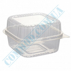 Plastic containers   1000ml   130*130*80mm   transparent   with lid   for cold dishes   100 pieces per pack