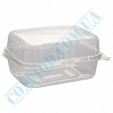 Plastic containers   1350ml   130*170*78mm   transparent   with lid   for cold dishes   100 pieces per pack