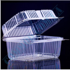 Plastic PET transparent containers 1400ml 130*170*90mm for salad with a transparent hinged lid 100 pieces