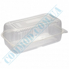 Plastic containers   2000ml   130*230*83mm   transparent   with lid   for cold dishes   100 pieces per pack