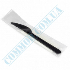 Individually packed knives | black | 180mm | 100 pcs