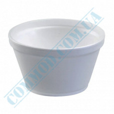 Polystyrene foam containers 330ml for cold and hot dishes white without lid 50 pieces per pack