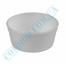 Round containers made of foam polystyrene 340ml for cold and hot dishes white without lid 50 pieces per pack