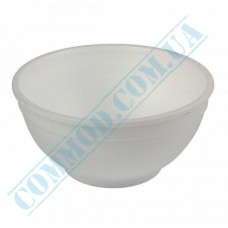 Round containers made of expanded polystyrene 500ml for cold and hot dishes white Bowl without lid 50 pieces per pack