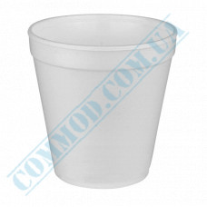 Round containers made of foam polystyrene 650ml for cold and hot dishes white without lid 50 pieces per pack