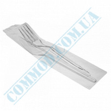 Set | Fork and Knife individually wrapped | transparent | 100 pcs