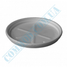 White styrofoam lids for 340, 500 and 680ml containers Ǿ=115mm 50 pieces per pack