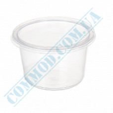 Plastic containers   350ml   Ǿ=115mm h=59mm   transparent   with lid   for hot meals   50 pieces per pack