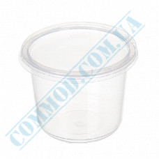 Plastic containers   500ml   Ǿ=115mm h=83mm   transparent   with lid   for hot meals   50 pieces per pack