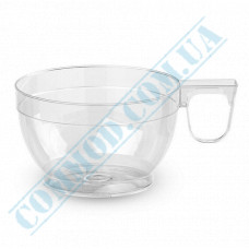 Plastic cups for coffee   150ml   transparent   34 per pack