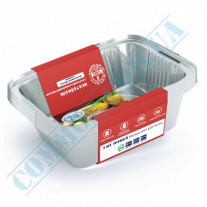 A set of containers of food foil for 255ml 127*100*33mm with lids 25 pieces article SP15L