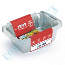 A set of containers of food foil for 430ml 145*120*40mm with lids 25 pieces article SP24L