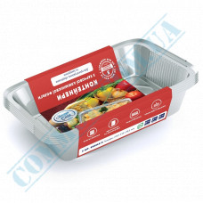 A set of containers of food foil for 960ml 218*153*41mm with lids 25 pieces article SP64L