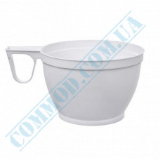 Plastic cups for coffee   150ml   white   34 per pack