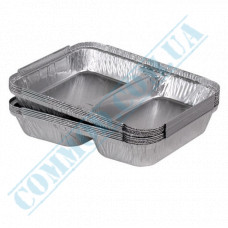Containers of food foil for 840ml 227*177*30mm 2 sections 100 pieces per pack article SPM2L