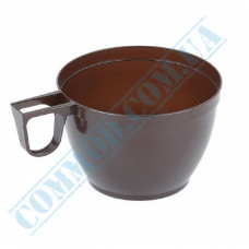 Plastic cups for coffee   150ml   brown   34 pieces per pack
