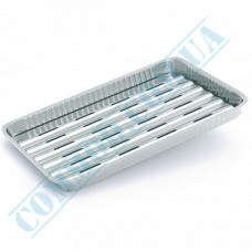 Baking trays made of food foil 1550ml 334*224*24mm for grilling 40 pieces article X20G