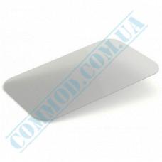 Lids for aluminum containers SP15L plastic flat transparent 100 pieces