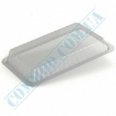 Lids for aluminum containers SP24L plastic high transparent 100 pieces