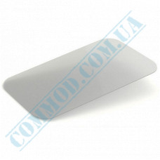 Lids for aluminum containers SP64L plastic flat transparent 100 pieces per pack