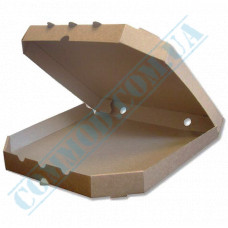 Kraft pizza boxes   with beveled corners   320*320*37mm   100 pieces per pack