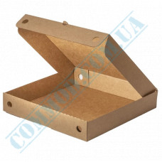 Kraft pizza boxes | cellulose | square | 300*300*45mm | 100 pieces per pack