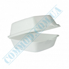 Lunch boxes 150*150*60mm   expanded polystyrene   white   250 pieces per pack