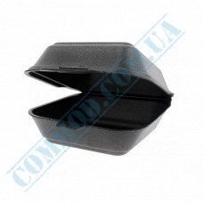 Lunch boxes 150*150*60mm   expanded polystyrene   black   250 pieces per pack