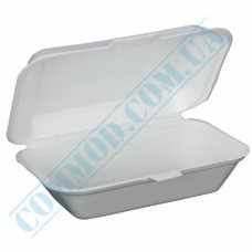 Lunch boxes 190*150*60mm   expanded polystyrene   white   250 pieces per pack