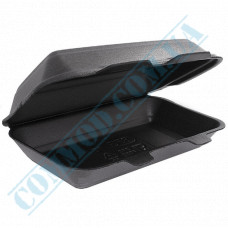 Lunch boxes 190*150*60mm   expanded polystyrene   black   250 pieces per pack