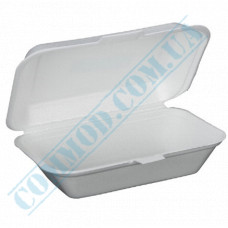 Lunch boxes 246*150*60mm   expanded polystyrene   white   250 pieces per pack
