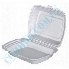 Lunch boxes 240*210*70mm white polystyrene foam 1 section 480 pieces (Poland)