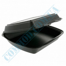 Lunch boxes 240*210*70mm black polystyrene foam 1 section 480 pieces (Poland)