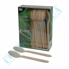 Wooden spoons | 157mm | PapStar (Germany) | 100 pieces per pack