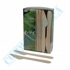 Wooden knives | 165mm | PapStar (Germany) | 100 pieces per pack