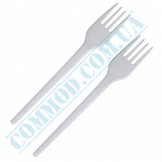 White plastic forks | 160mm | 100 pieces per pack