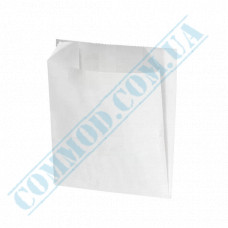 Paper bags 105*100*50mm sachets White 70g/m2 Grease-resistant 1000 pieces per pack article 1784