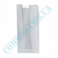 Paper bags 240*120*50mm sachets with a window White 40g/m2 1000 pieces article 56