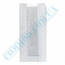 Paper bags 290*140*50mm sachets with a window White 40g/m2 1000 pieces article 66