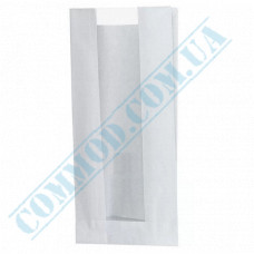 Paper bags 310*160*80mm sachets with a window White 40g/m2 1000 pieces article 110