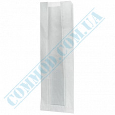 Paper bags 390*140*50mm sachets with a window White 40g/m2 1000 pieces article 108