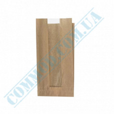 Paper bags 240*120*50mm sachets with a window Kraft 40g/m2 1000 pieces article 57