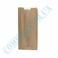 Paper bags 290*140*50mm sachets with a window Kraft 40g/m2 1000 pieces article 67