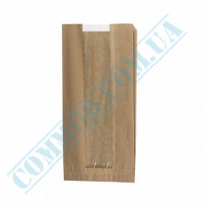 Paper bags 310*160*80mm sachets with a window Kraft 40g/m2 1000 pieces article 111