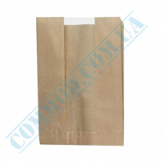 Paper bags 310*210*50mm sachets with a window Kraft 40g/m2 1000 pieces article 62