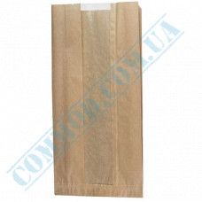 Paper bags 430*210*70mm sachets with a window Kraft 50g/m2 1000 pieces article 59